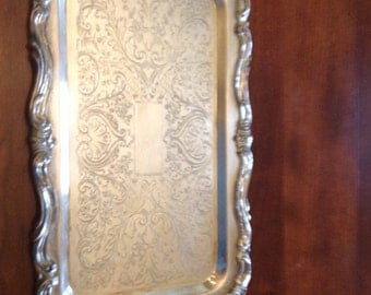 F.B. Rodgers Silverplate Tray with Handles