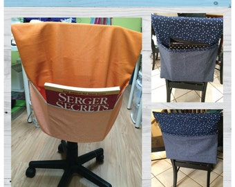 Chair Pocket, sewing instructions, sewing pattern, PDF pattern,  sew a chair pocket, book bag