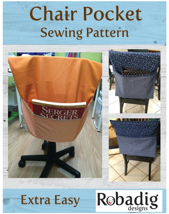 Chair Pocket Sewing Instructions Sewing Pattern PDF