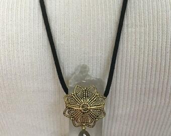 Dark Chrysanthemum Necklace
