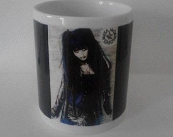"""Ceramic mug """"Cyber goth girl"""""""