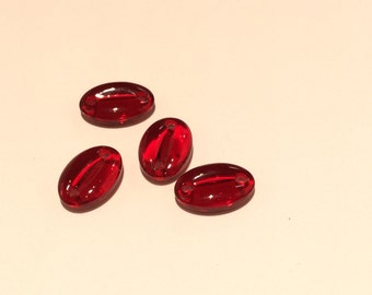 Vintage pressed glass bead from Swarovski - 4 Pieces - #59