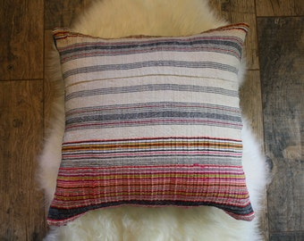 Hemp + Denim Pillow Cover