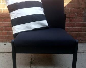 Black matt, handmade modern armchair