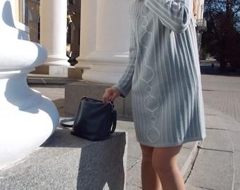 Small dress Long sleeve dress Plus size dress Chain dress Cable knit dress Short dress Striped dress Grey dress Wool dress Loose dress