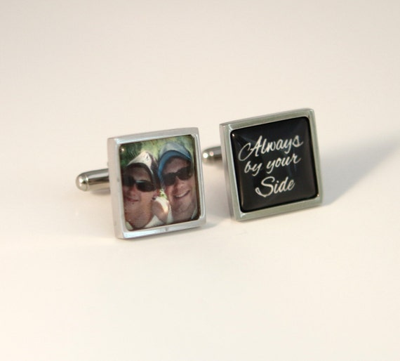 Square Cuff Links Wedding Gift For Brother Custom Photo Cuff Links .