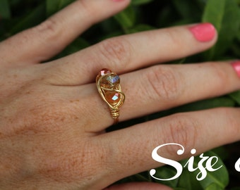 Handmade Beaded Ring // Adoption Fundraiser