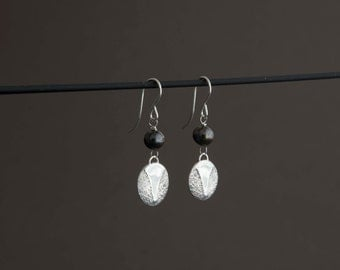 Sterling Silver and Pearl Union Earrings