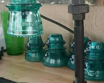 Vintage Steampunk Industrial Pipe/Insulator Lamp