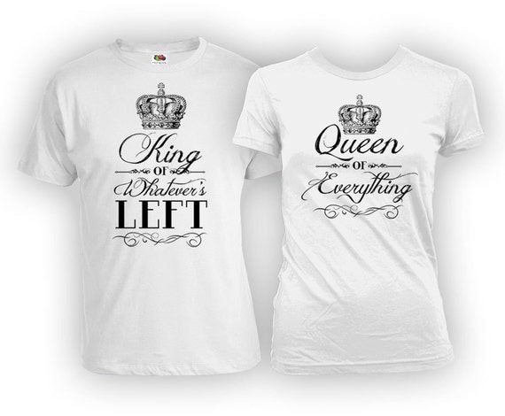 Funny His And Her Wedding Gifts : Funny Couple Shirts Husband And Wife Gifts His And Her T Shirts ...