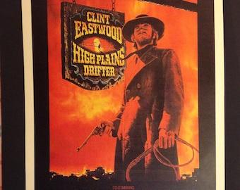 "High Plains Drifter Movie Poster 12""x18"" // Clint Eastwood // Western // 1973 // John Wayne Didn't Like This Movie // Vengence"