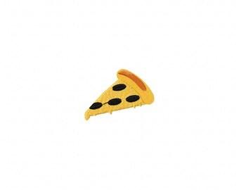 Mini Pizza embroidery design, slice pizza embroidery design, pizza embroidery design, food embroidery design