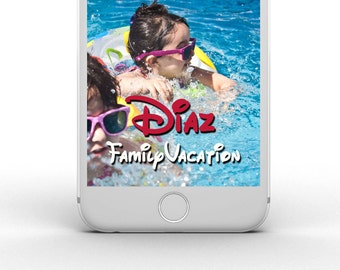 Disney Vacation Snapchat Geofilter - customizable - any color