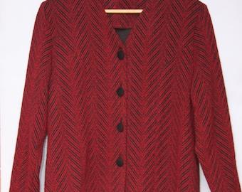 Vintage 1980's Patterned Red Jacket Dynasty Style