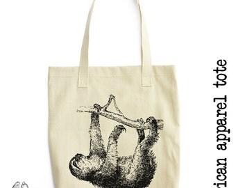 Sloth Tote Bag, American Apparel, Urban, Animal, Animals, Adorable, Cute, Cool, Funny, Cute Gift