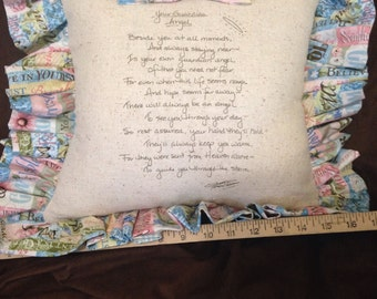 Guardian Angel poem pillow-encouraging words for this life!