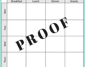Meal Planner, Meal Planning, Home Organization, Printable PDF