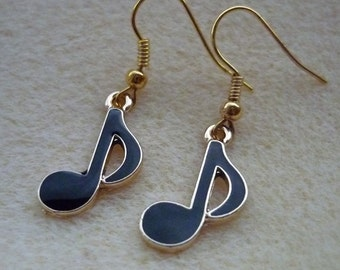 Music Note Earrings, Musical Earrings, Music Jewellery, Classical Music Gift, Music Lover Gift