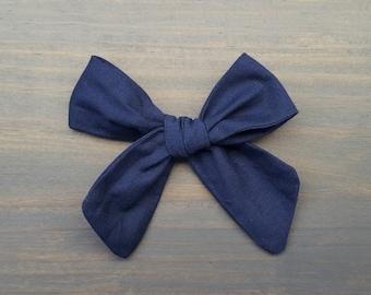 Simple Bow- Cadet Blue