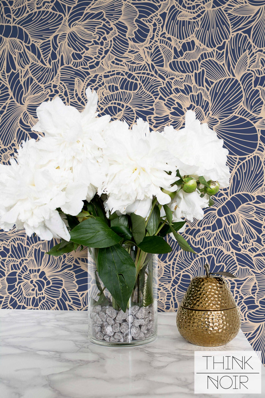 flower adhesive wallpaper floral removable or regular
