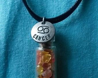 Cancer Crystal Bottle Necklace