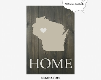 Custom HOME | State with Heart | Pallet Board | Shiplap | Carbon Gray