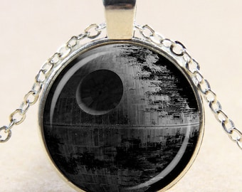 Death Star Glass Pendant Necklace