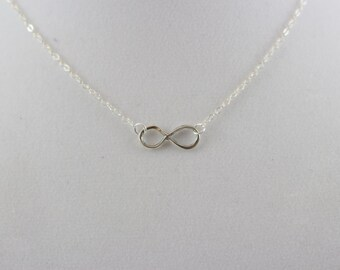 Sterling Silver Infinity Charm Necklace BP4056