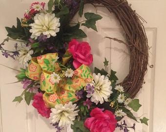 Spring, summer all year wreath