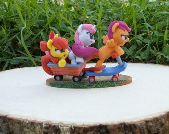 Sweetie Bell Scootaloo Apple Bloom My Little Pony Friendship is Magic Cutie Mark Crusaders  Hasbro SuperFanArt Brony MLP Fan Favorite SFA