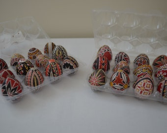 Set of 4 Genuine Quail Decorated Eggs Collectible/Gift/Decoration (Small)