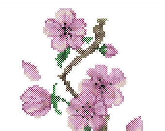 Sakura cherry blossoms Cross stitch pattern PDF Instant Download