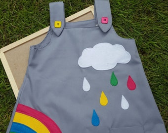 Gorgeous handmade rainbow children's dress