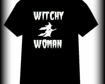 Halloween shirt, Witch shirt, Halloween, Witchy Woman shirt, Horror Clothing, Gothic Clothing, S, M, L, XL