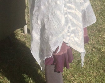 Felted Muslin and Wool Material/Wrap/Skirt