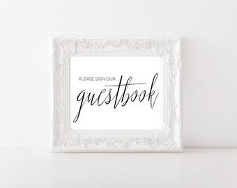Wedding Guest Book Sign - Wedding Guestbook Sign - Printable Guestbook Sign - Wedding Signs - Printable Wedding Sign - Wedding Signage