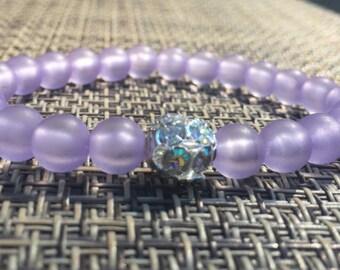Pastel Sparkle Bracelet -- Lavender