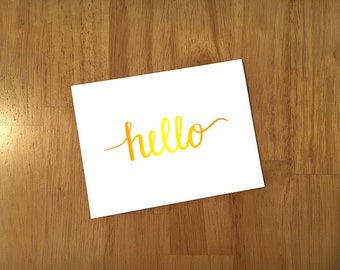"10 Pack Custom ""Hello"" Cards"
