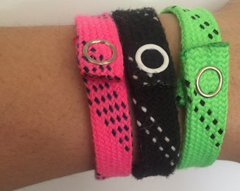 Hockey lace bracelets