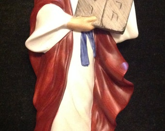 Homco Moses with Ten Commandments Porcelain Figurine #1464