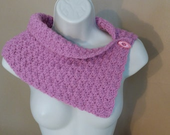 "Sale*** Crochet cowl scarf, ""Holey cowl"", light & comfy."