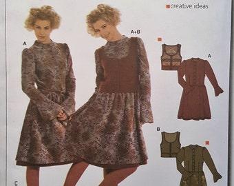 Burda Paper Pattern - Dress + Vest