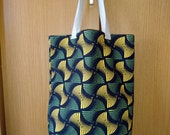 Japanese Abstract Print Soft Tall Tote Bag (Type A)