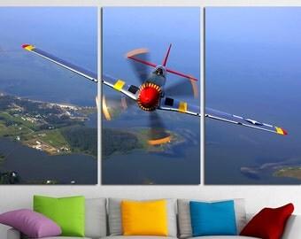 Large Aircraft Canvas Wall Art Airplane Wall Art Airplane Canvas Art Vintage Airplane Print Poster Sky Wall Art Aircraft Gift Plane Wall Art