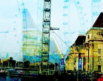 London Eye photomontage