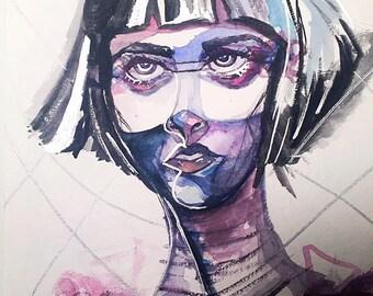 Intensity- Watercolor art