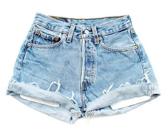 Vintage Light High Waisted Shorts