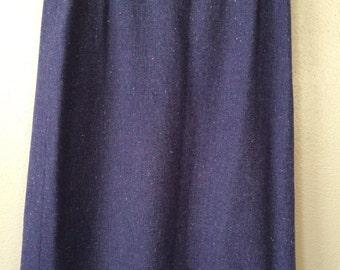 Vintage Purple Pendleton 100% Wool Skirt