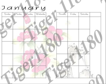 Poppy Undated Planner Pages Half Letter Size