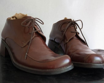 60s Brown Leather Lace Up Oxford Shoe